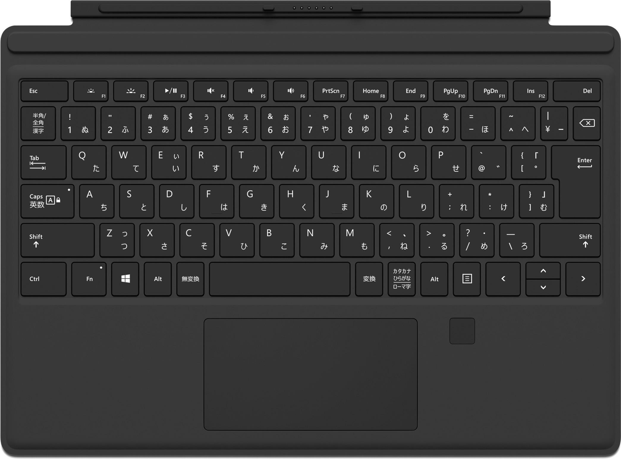 Surface Pro 4 Type Cover (指紋認証センサー付き) ブラック