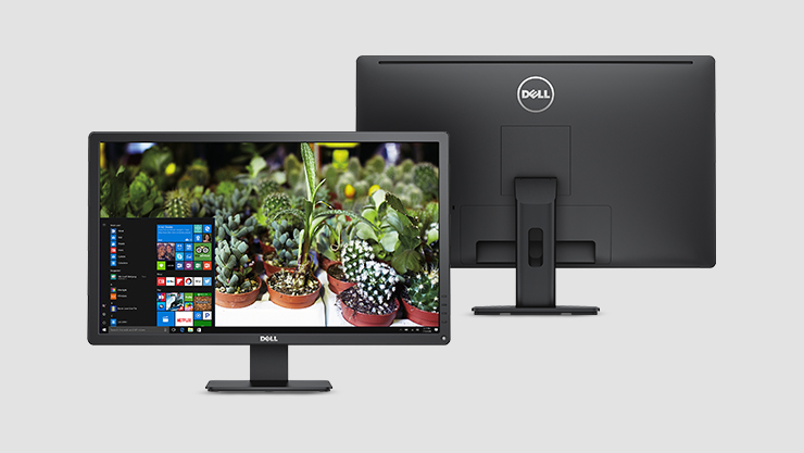 Front and back view of Dell monitor