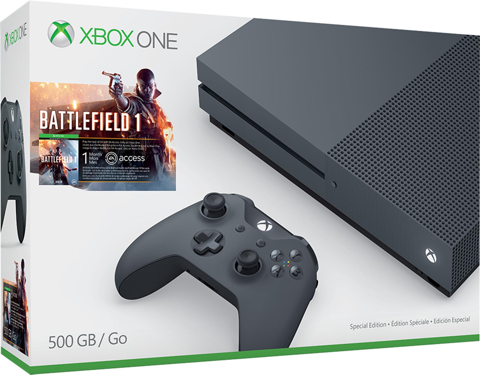 Gray Xbox One S Battlefield 1 Bundle (500GB)