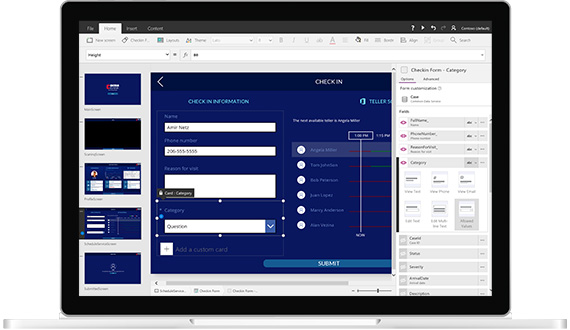 Product screenshot of custom applications building tool for Dynamics 365