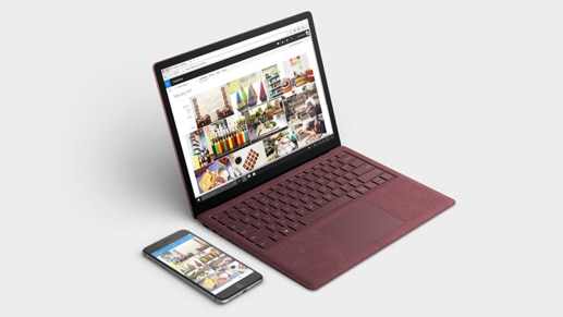 Microsoft Surface and mobile phone