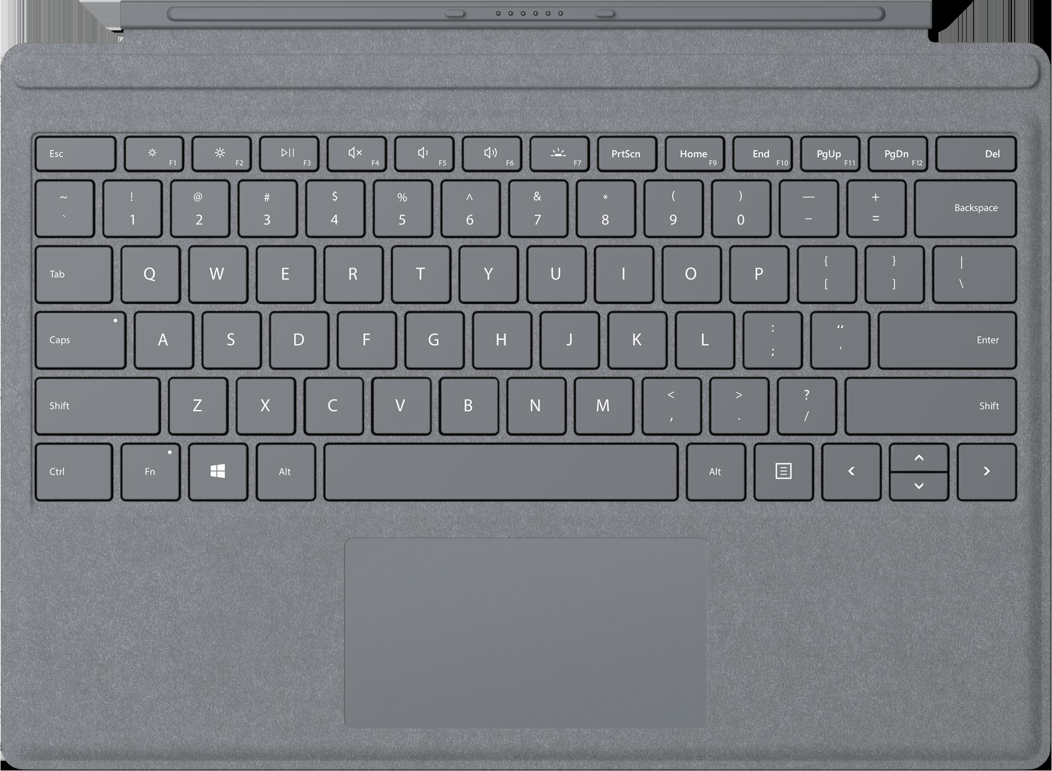 Surface Pro Signature Type Cover - Platinum