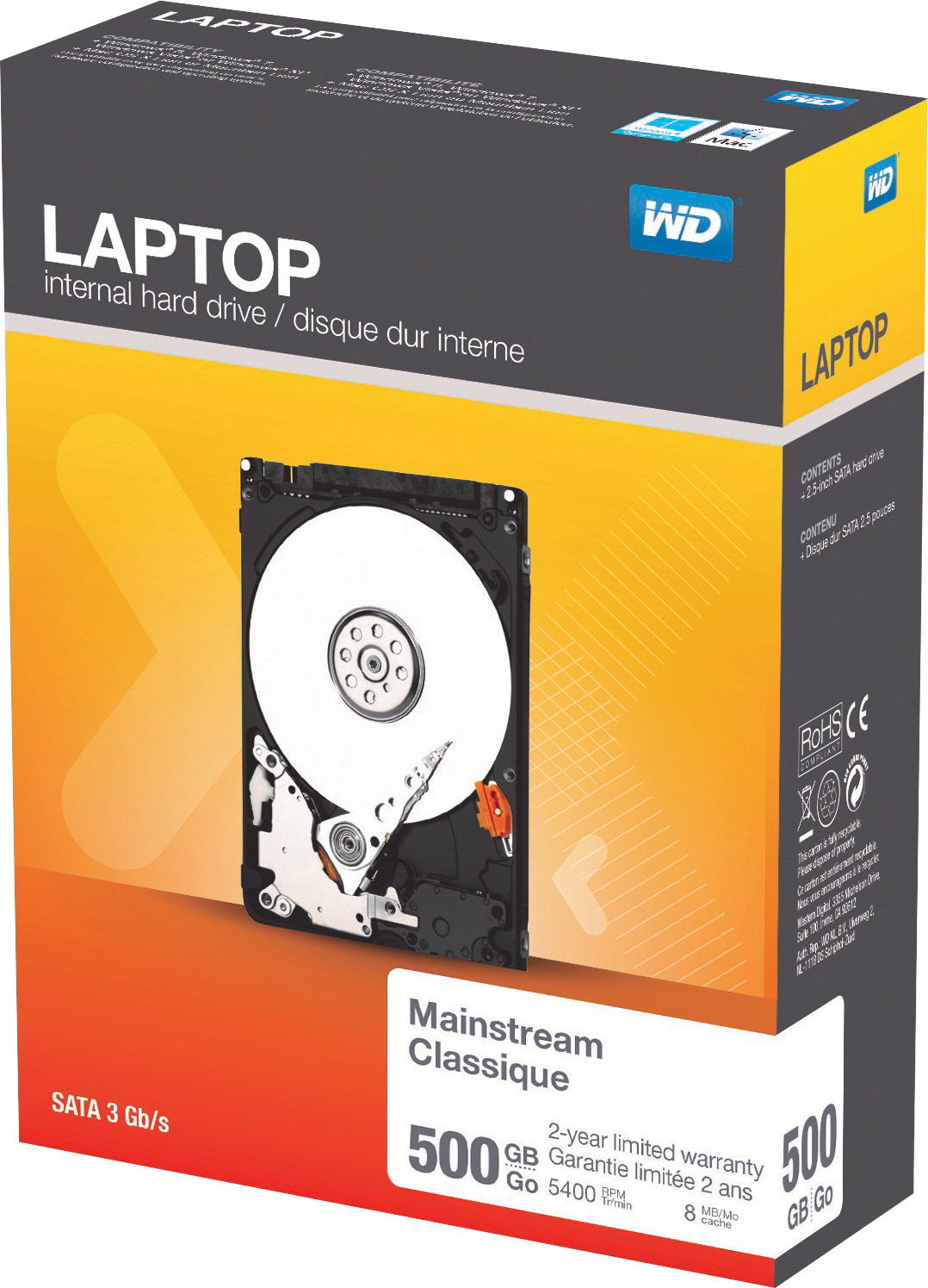 Western Digital 500GB  Hard Drive for Laptops