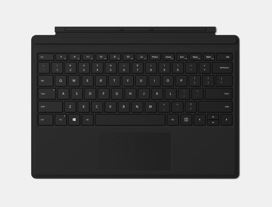 Keyboard view of Black Signature Type Cover.
