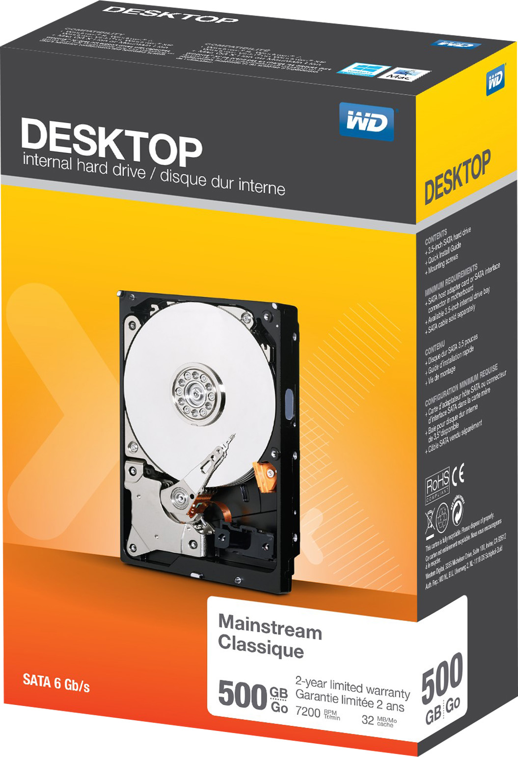 Western Digital 500GB Mainstream Hard Drive Deal