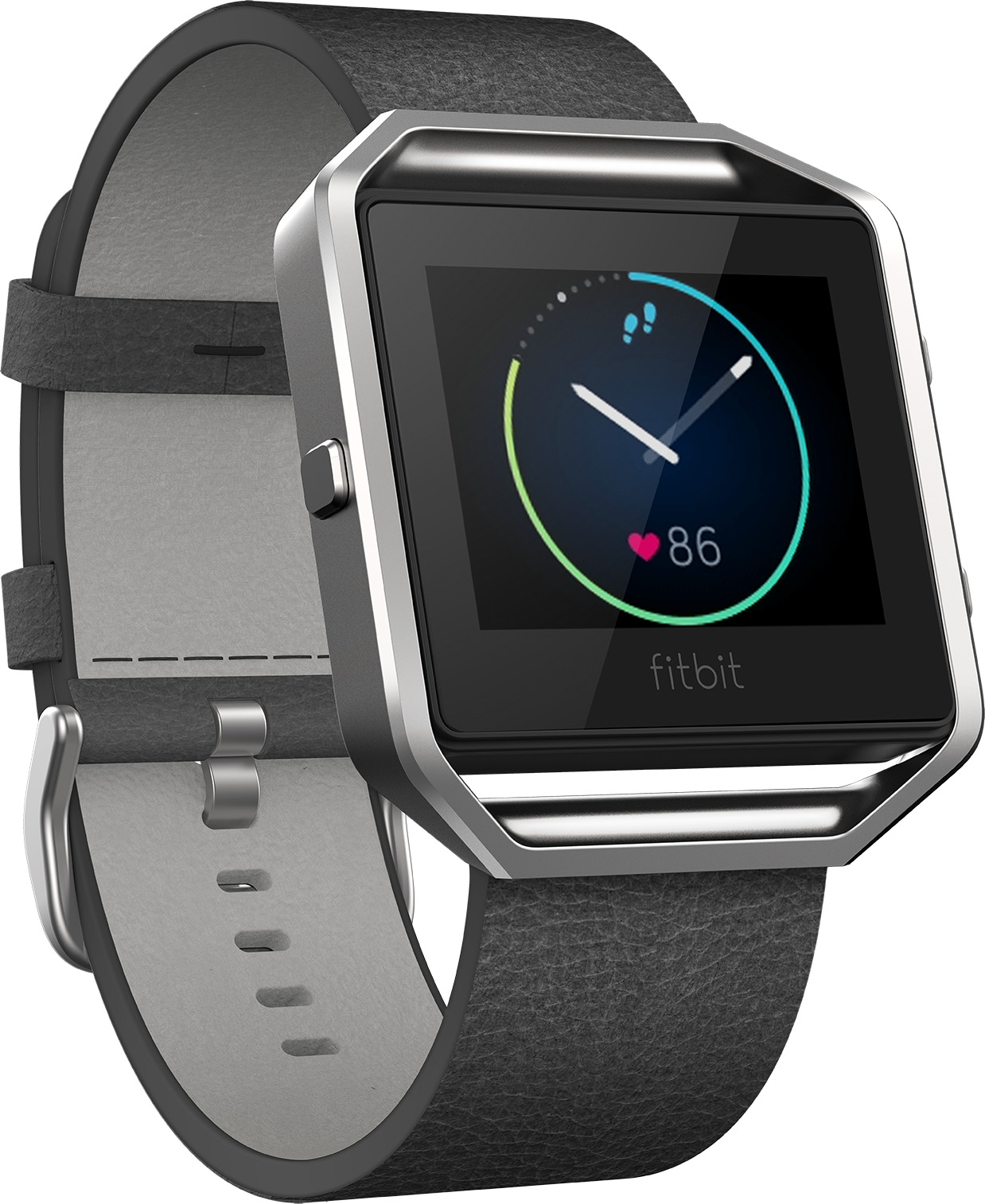 Fitbit Blaze Leather Band (Black) - Large