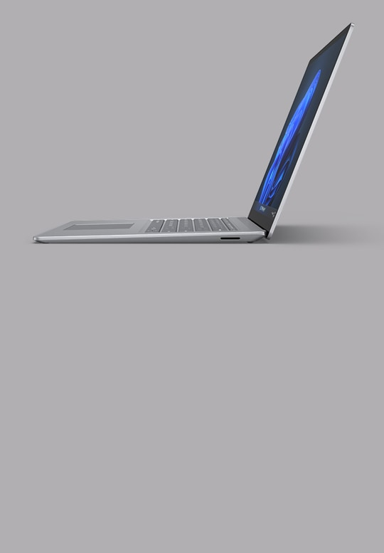 Surface Laptop 4 15-inch shown in Platinum metal