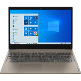 Lenovo IdeaPad 3 laptop from the front with Windows on screen