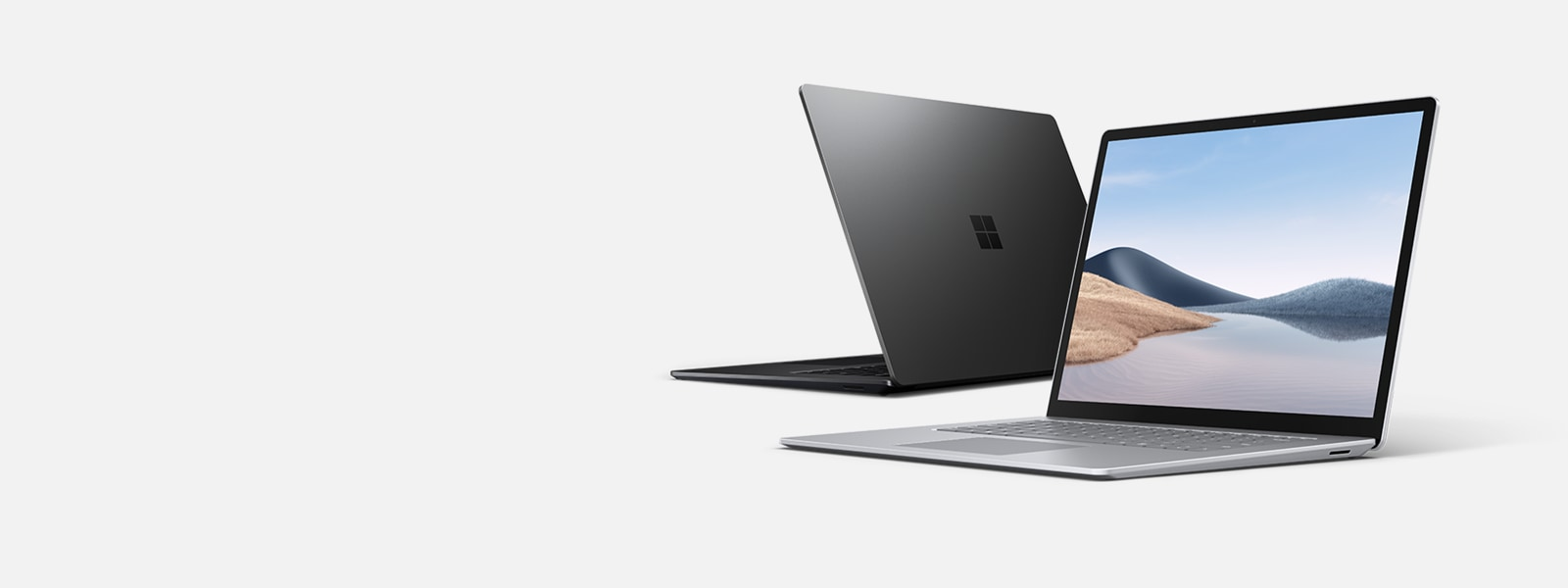 Surface Laptop 4 s prikazom zaslona in tipkovnice.