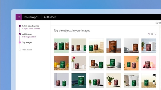 Images organized in the Microsoft Power Platform