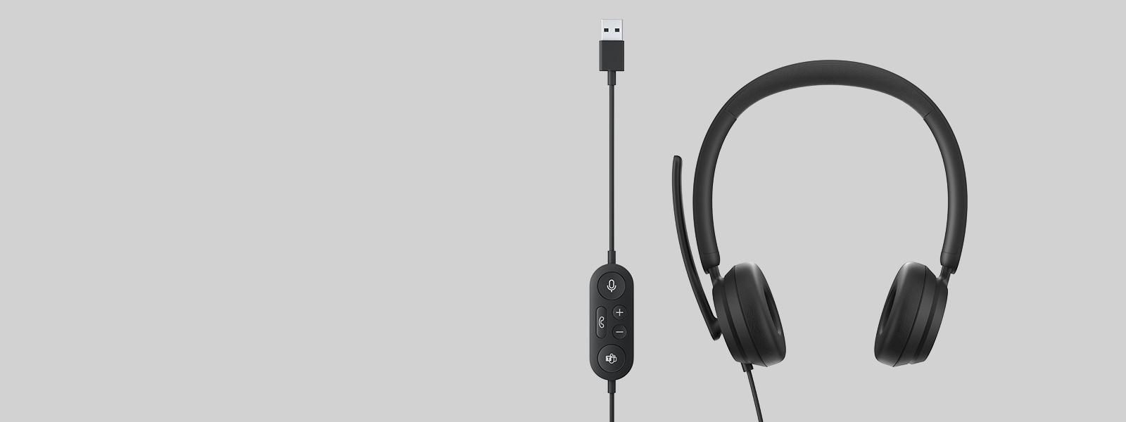 A Microsoft Modern USB Headset