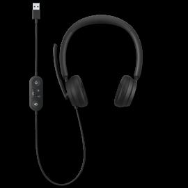 Das Microsoft Modern USB Headset mit sichtbar geführtem Kabel.