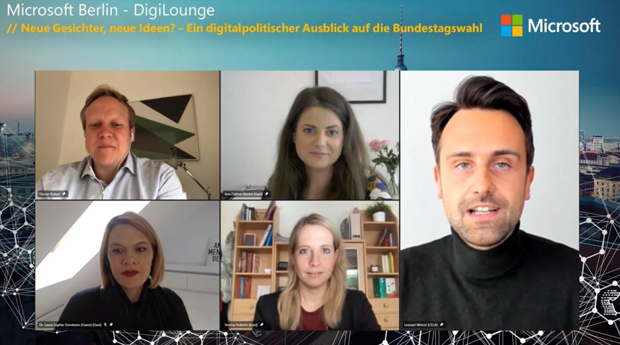 Thumbnail zu DigiLounge // Neue Gesichter, neue Ideen? – Ein digitalpolitischer Ausblick auf die Bundestagswahl