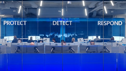 The Microsoft Cyber Defense Operations Center.