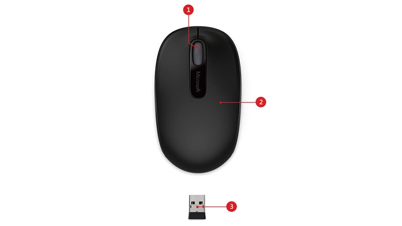 Microsoft Wireless Mobile Mouse 1850 features