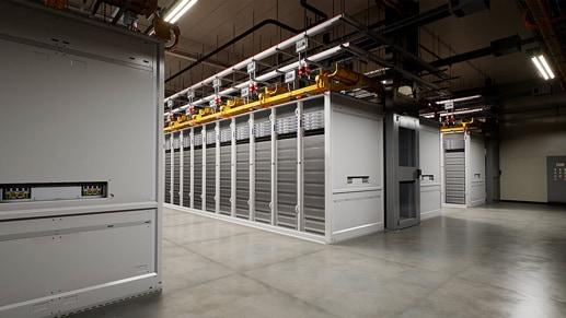 A Microsoft datacenter server room