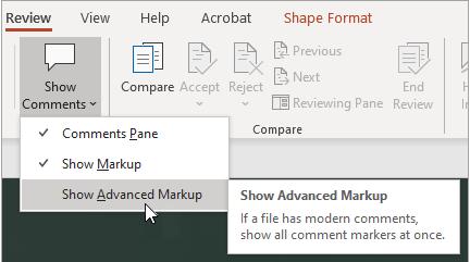 Show Advanced Markup