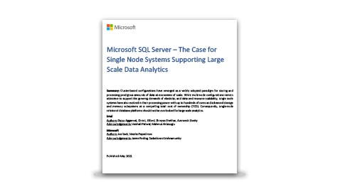 The whitepaper titled The Case for Single Node Systems Supporting Large Scale Data Analytics.