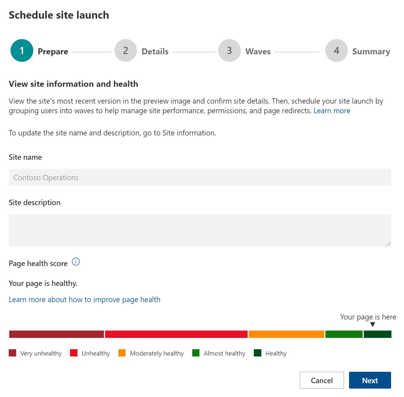 SharePoint Portal launch scheduler
