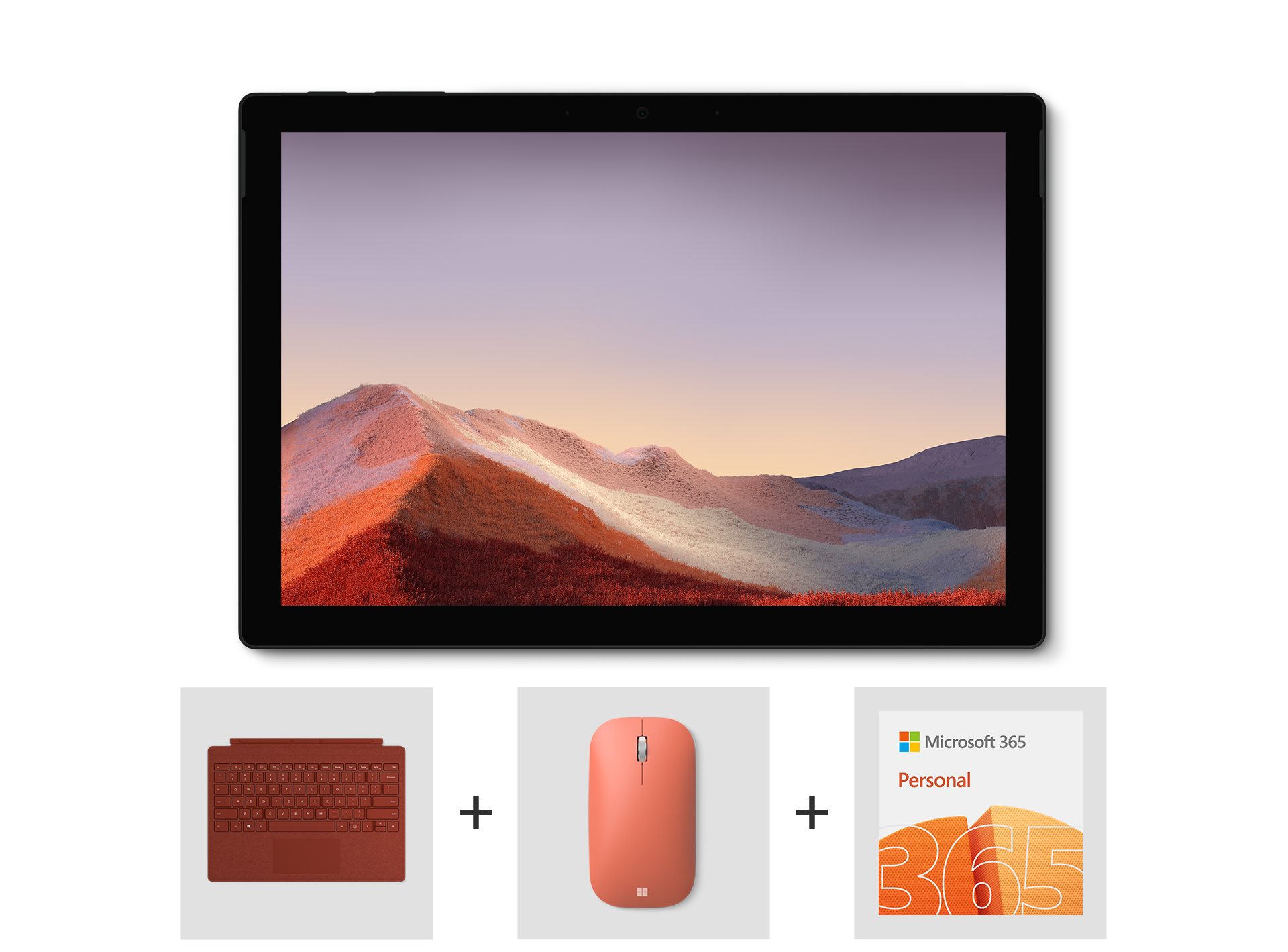 Surface Pro 7 Essentials Bundle including Surface Pro Signature Type Cover, Microsoft Modern Mobile Mouse, and Microsoft 365