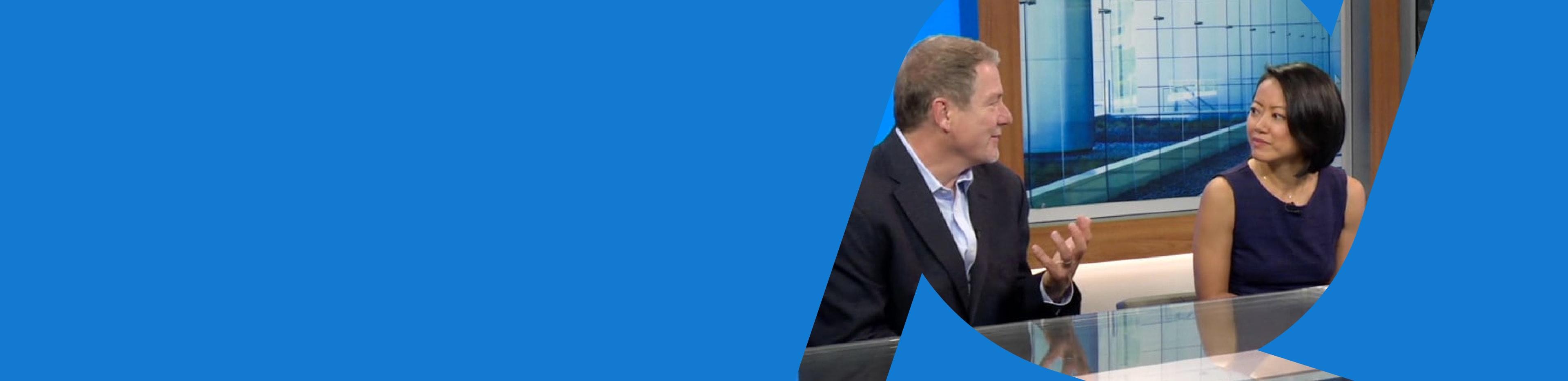 Bret Arsenault, Microsoft CISO, and Joy Chik, CVP of Identity, having a conversation.