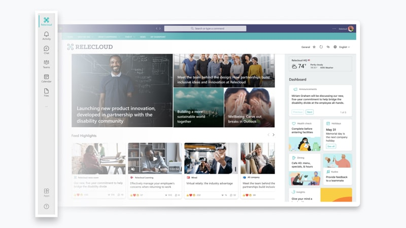 The Relecloud app in Teams on desktop.