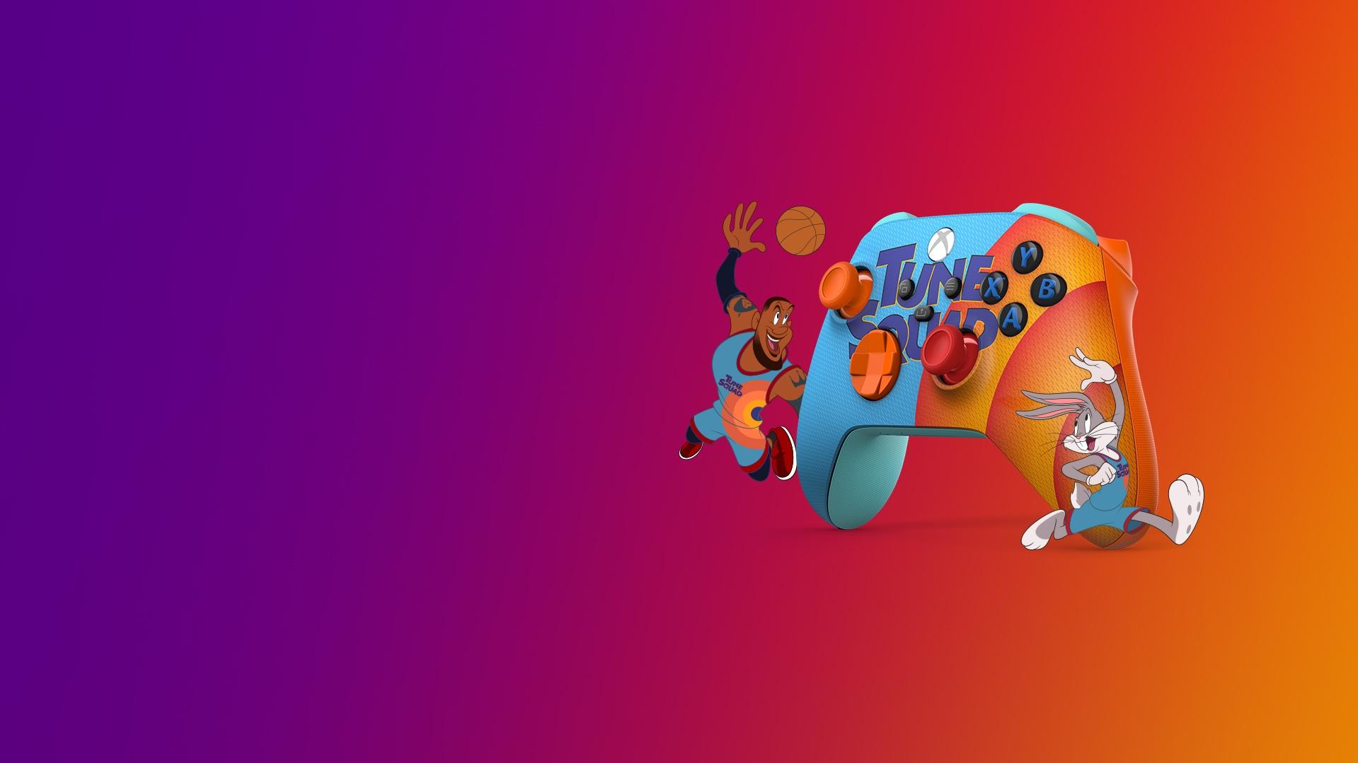 Xbox Wireless Controller – Space Jam: A New Legacy Tune Squad Exclusive mitBugsBunny und LeBron James