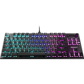 Front view of the ROCCAT Vulcan T K L Compact Mechanical R G B Gaming Keyboard.