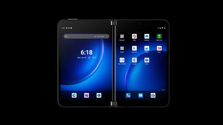Surface Duo 2 en modo Libro de dos pantallas