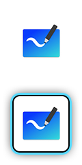 Microsoft Whiteboard logo.