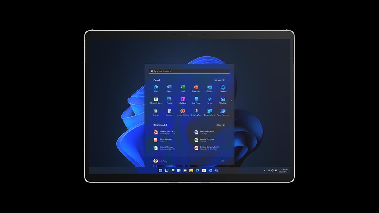 Surface Pro X 採用平板電腦模式