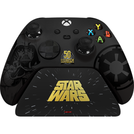 A Razer Limited Edition Darth Vader Wireless Controller & Quick Charging Stand for Xbox.