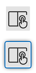 Icon showing hand interacting with device