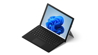 Surface Pro 7+ shown as a laptop.