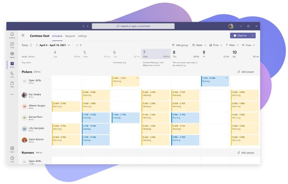 A calendar full of categorized meetings in Microsoft Teams.