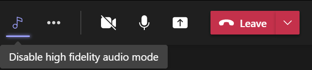 Disable high fidelity music mode