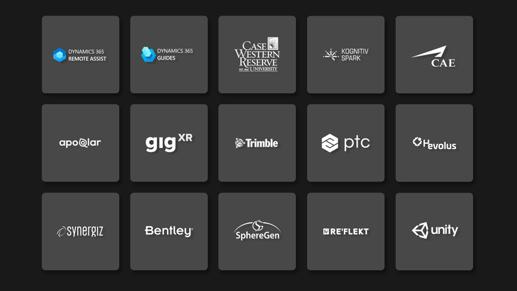 Logos des partenaires des entreprises qui utilisent HoloLens.