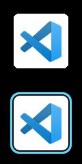 VS Code logo.