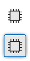 Icon showing a processor chip