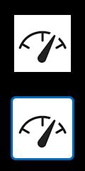 顯示時速表的圖示