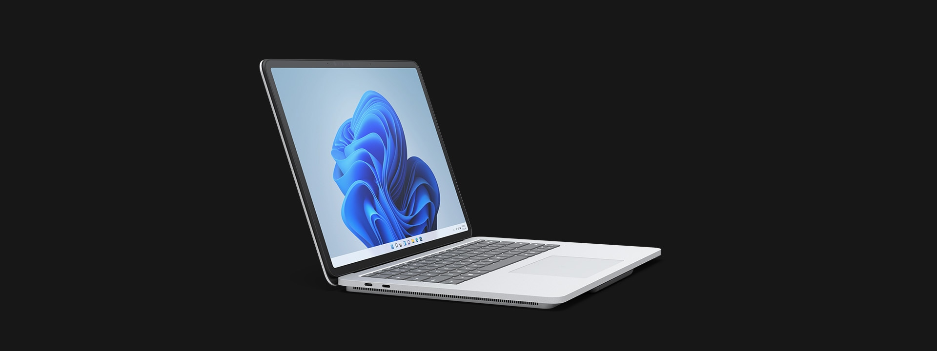 Surface Laptop Studio in stage mode.