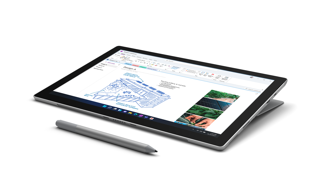 SurfacePro 7+in Pen Modewith Surface Slim Pen