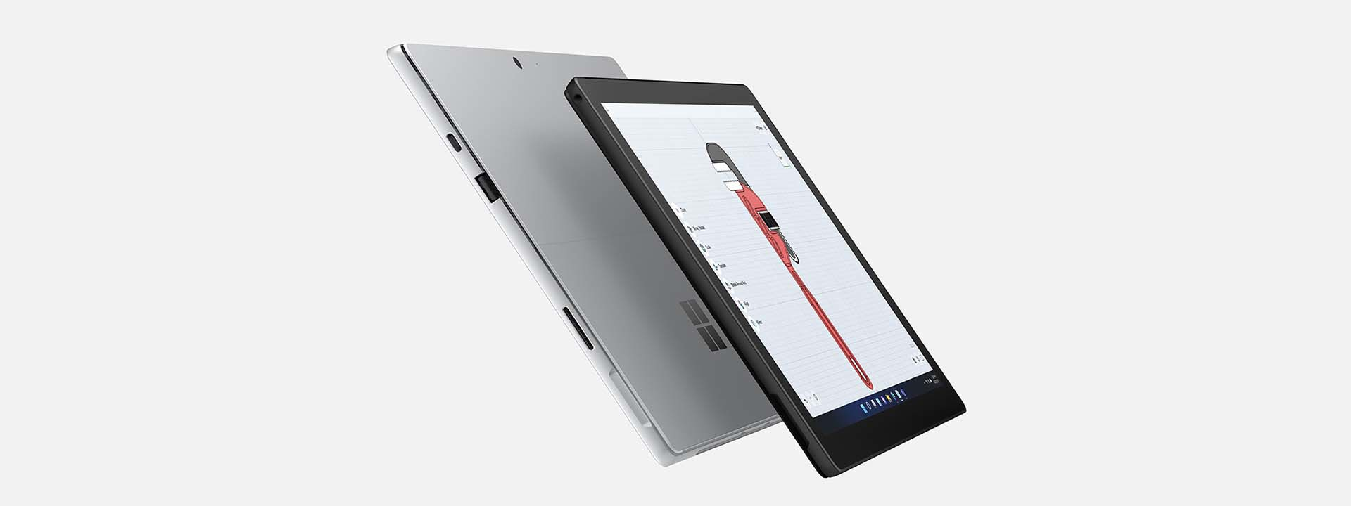 Two SurfacePro 7+ devices seen back-to-back with increased battery life