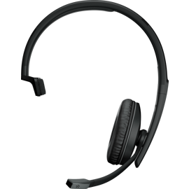 Sennheiser EPOS ADAPT 231 Bluetooth Headset with U S B - C Dongle from the front.