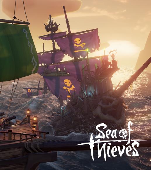 Sea of Thieves video oyunu gemilerin denizde olduğu sahne