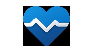 İçinden kalp atışı çizgisi geçen kalp