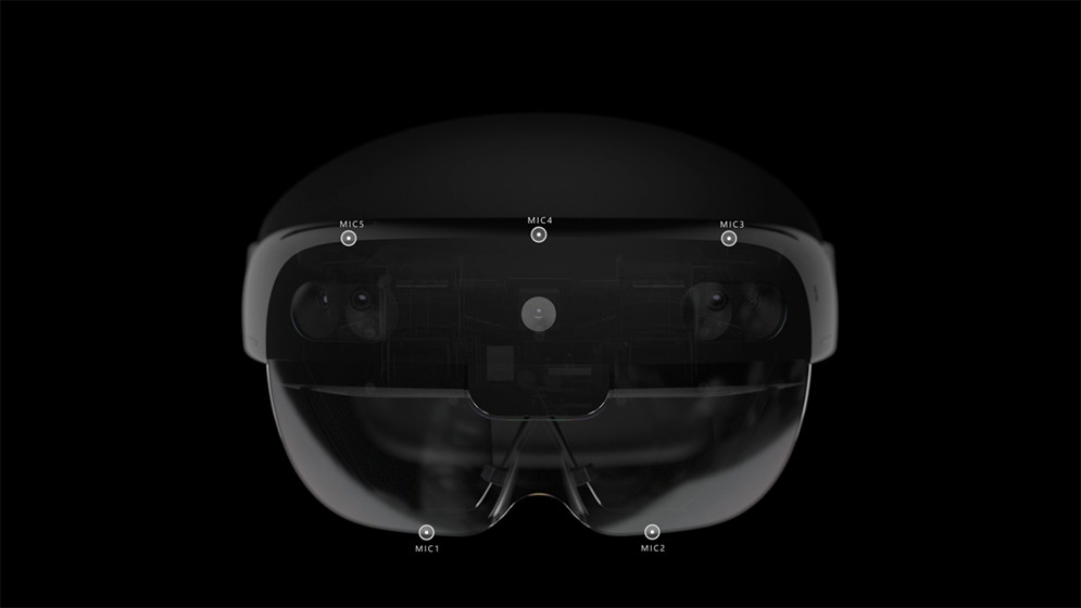 A top down view of HoloLens 2.