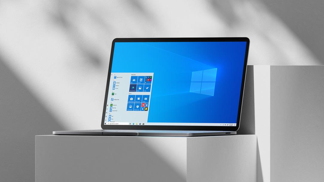 Laptop with Start menu