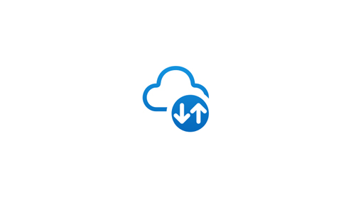 A cloud icon with a download upload symbol