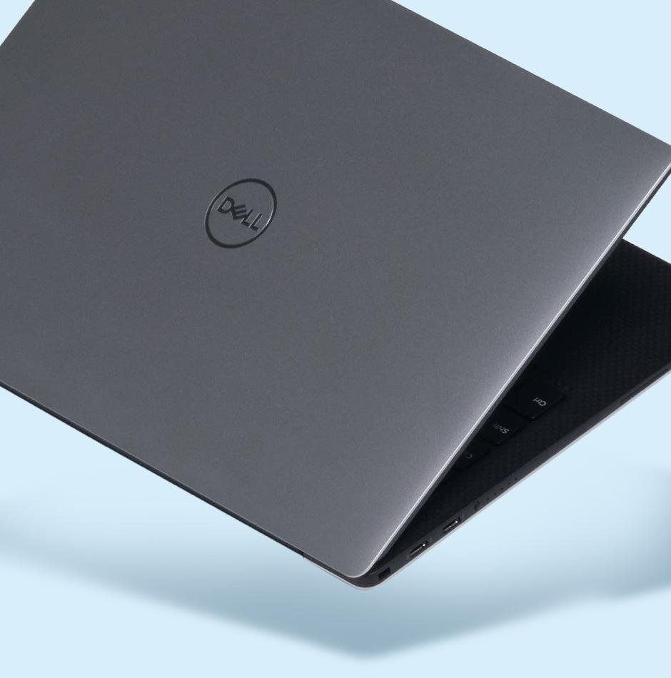 Laptop teilweise geöffnet
